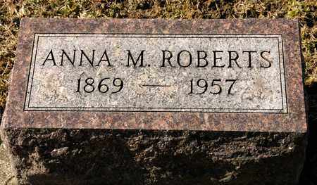 ROBERTS, ANNA M - Richland County, Ohio | ANNA M ROBERTS - Ohio Gravestone Photos