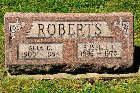ROBERTS, ALTA D - Richland County, Ohio | ALTA D ROBERTS - Ohio Gravestone Photos