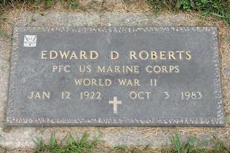 ROBERTS, EDWARD D - Richland County, Ohio | EDWARD D ROBERTS - Ohio Gravestone Photos