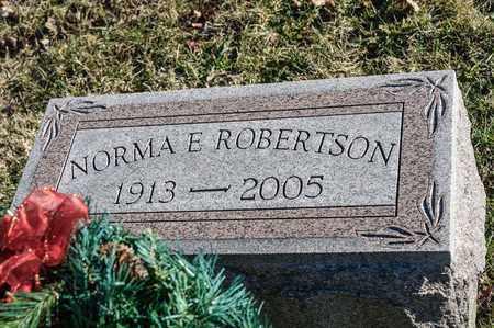 ROBERTSON, NORMA E - Richland County, Ohio | NORMA E ROBERTSON - Ohio Gravestone Photos