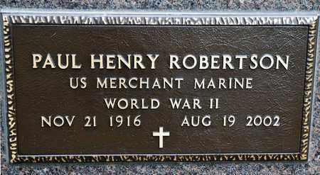ROBERTSON, PAUL HENRY - Richland County, Ohio | PAUL HENRY ROBERTSON - Ohio Gravestone Photos