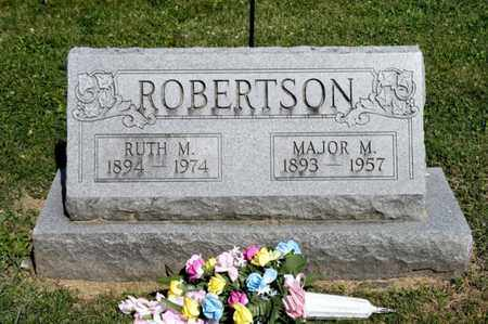 ROBERTSON, MAJOR M - Richland County, Ohio | MAJOR M ROBERTSON - Ohio Gravestone Photos