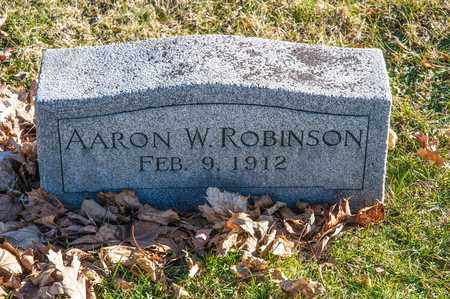ROBINSON, AARON W - Richland County, Ohio | AARON W ROBINSON - Ohio Gravestone Photos