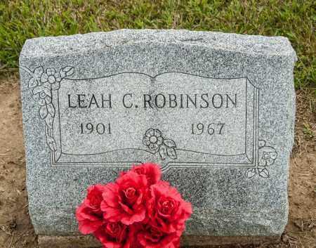 ROBINSON, LEAH C - Richland County, Ohio | LEAH C ROBINSON - Ohio Gravestone Photos