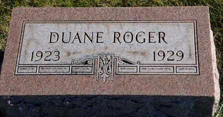 ROGER, DUANE - Richland County, Ohio   DUANE ROGER - Ohio Gravestone Photos