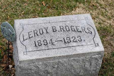 ROGERS, LEROY B - Richland County, Ohio | LEROY B ROGERS - Ohio Gravestone Photos