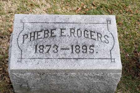 ROGERS, PHEBE E - Richland County, Ohio | PHEBE E ROGERS - Ohio Gravestone Photos
