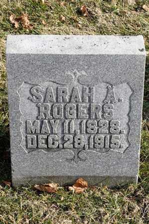 ROGERS, SARAH A - Richland County, Ohio   SARAH A ROGERS - Ohio Gravestone Photos