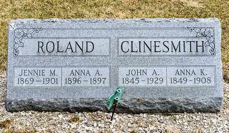 ROLAND, JENNIE M - Richland County, Ohio | JENNIE M ROLAND - Ohio Gravestone Photos