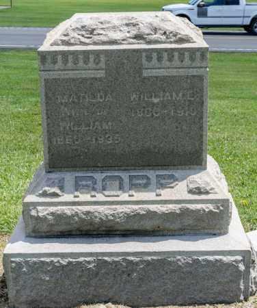 ROPP, MATILDA - Richland County, Ohio | MATILDA ROPP - Ohio Gravestone Photos