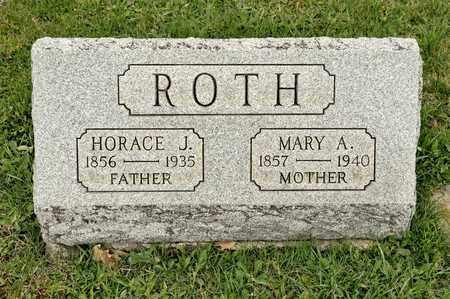 ROTH, HORACE J - Richland County, Ohio | HORACE J ROTH - Ohio Gravestone Photos