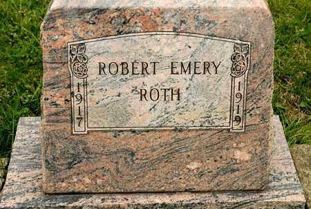 ROTH, ROBERT EMERY - Richland County, Ohio   ROBERT EMERY ROTH - Ohio Gravestone Photos