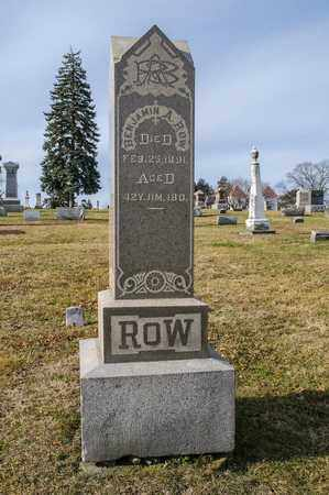 ROW, BENJAMIN A - Richland County, Ohio | BENJAMIN A ROW - Ohio Gravestone Photos