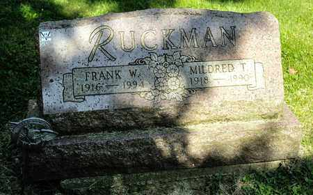 RUCKMAN, MILDRED T - Richland County, Ohio | MILDRED T RUCKMAN - Ohio Gravestone Photos