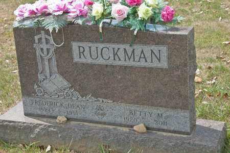 RUCKMAN, BETTY M - Richland County, Ohio | BETTY M RUCKMAN - Ohio Gravestone Photos