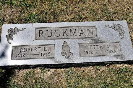 RUCKMAN, ROBERT E - Richland County, Ohio | ROBERT E RUCKMAN - Ohio Gravestone Photos