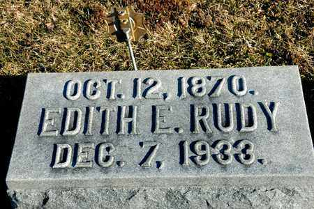 RUDY, EDITH E - Richland County, Ohio   EDITH E RUDY - Ohio Gravestone Photos