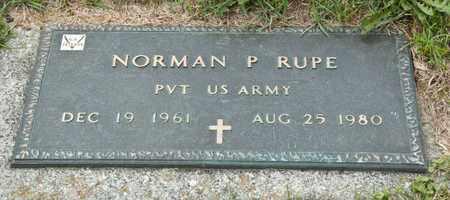 RUPE, NORMAN P - Richland County, Ohio | NORMAN P RUPE - Ohio Gravestone Photos