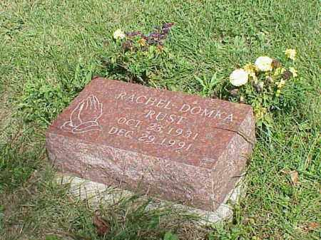 RUST, RACHEL DOMKA - Richland County, Ohio | RACHEL DOMKA RUST - Ohio Gravestone Photos