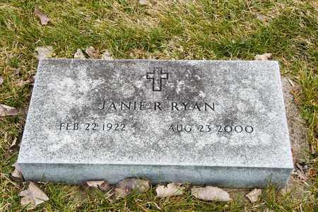 RYAN, JANIE R - Richland County, Ohio   JANIE R RYAN - Ohio Gravestone Photos