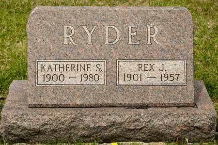 RYDER, REX J - Richland County, Ohio | REX J RYDER - Ohio Gravestone Photos
