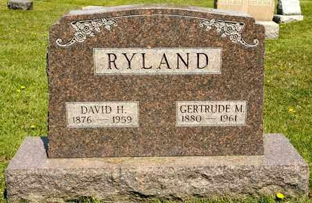 RYLAND, DAVID H - Richland County, Ohio | DAVID H RYLAND - Ohio Gravestone Photos