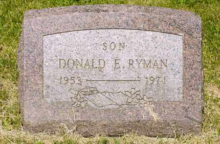 RYMAN, DONALD E - Richland County, Ohio | DONALD E RYMAN - Ohio Gravestone Photos