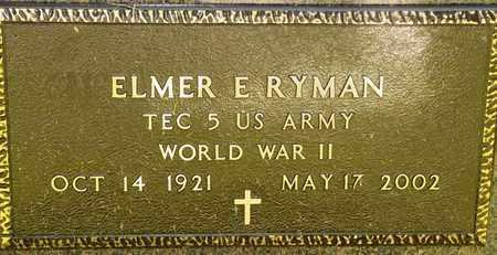 RYMAN, ELMER E - Richland County, Ohio | ELMER E RYMAN - Ohio Gravestone Photos