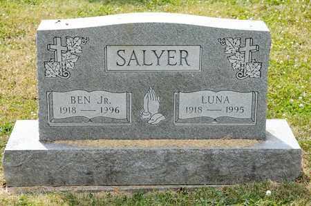 SALYER JR, BEN - Richland County, Ohio   BEN SALYER JR - Ohio Gravestone Photos
