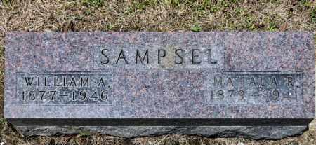 SAMPSEL, WILLIAM A - Richland County, Ohio | WILLIAM A SAMPSEL - Ohio Gravestone Photos