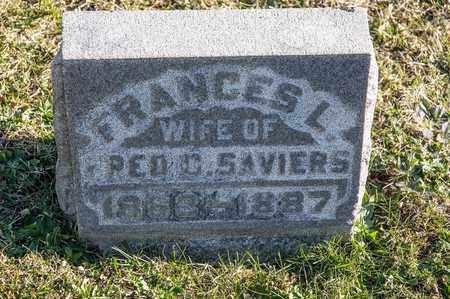 SAVIERS, FANCES L - Richland County, Ohio | FANCES L SAVIERS - Ohio Gravestone Photos