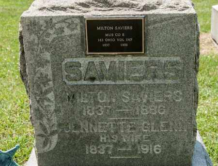 SAVIERS, JENNETTE - Richland County, Ohio | JENNETTE SAVIERS - Ohio Gravestone Photos