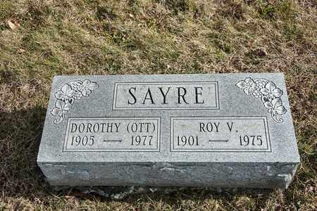 SAYRE, ROY V - Richland County, Ohio   ROY V SAYRE - Ohio Gravestone Photos