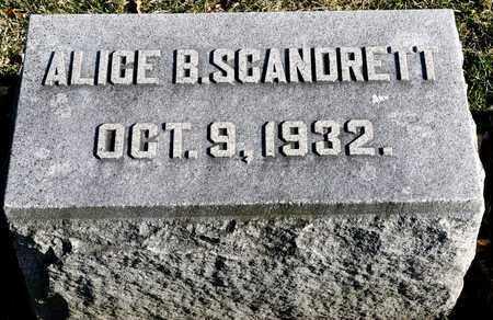 SCANDRETT, ALICE B - Richland County, Ohio   ALICE B SCANDRETT - Ohio Gravestone Photos