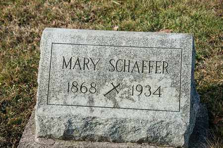 SCHAFFER, MARY - Richland County, Ohio   MARY SCHAFFER - Ohio Gravestone Photos