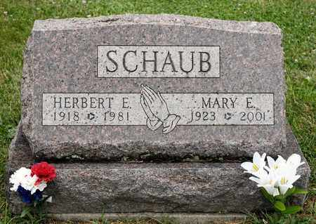 SCHAUB, MARY E - Richland County, Ohio | MARY E SCHAUB - Ohio Gravestone Photos