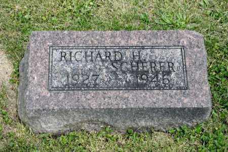 SCHERER, RICHARD H - Richland County, Ohio | RICHARD H SCHERER - Ohio Gravestone Photos