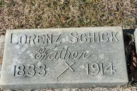 SCHICK, LORENZ - Richland County, Ohio   LORENZ SCHICK - Ohio Gravestone Photos