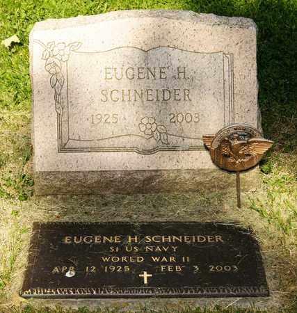SCHNEIDER, EUGENE H - Richland County, Ohio   EUGENE H SCHNEIDER - Ohio Gravestone Photos