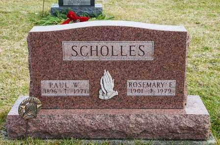 SCHOLLES, PAUL W - Richland County, Ohio | PAUL W SCHOLLES - Ohio Gravestone Photos