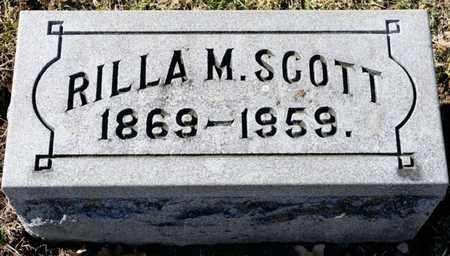 SCOTT, RILLA M - Richland County, Ohio   RILLA M SCOTT - Ohio Gravestone Photos