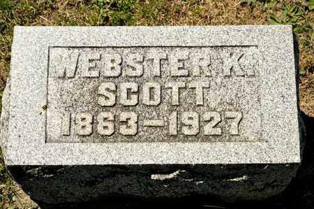 SCOTT, WEBSTER K - Richland County, Ohio | WEBSTER K SCOTT - Ohio Gravestone Photos