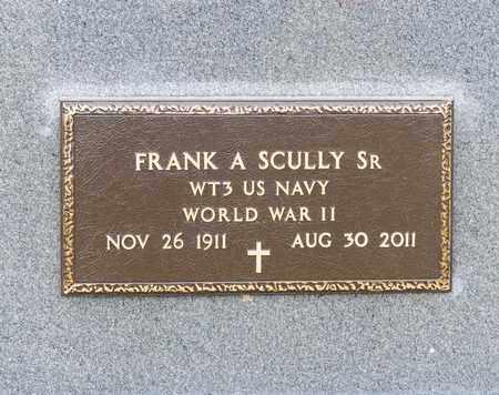 SCULLY SR, FRANK A - Richland County, Ohio | FRANK A SCULLY SR - Ohio Gravestone Photos