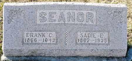 SEANOR, SADIE E - Richland County, Ohio | SADIE E SEANOR - Ohio Gravestone Photos