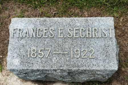 SECHRIST, FRANCES E - Richland County, Ohio | FRANCES E SECHRIST - Ohio Gravestone Photos
