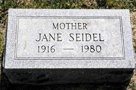 SEIDEL, JANE - Richland County, Ohio | JANE SEIDEL - Ohio Gravestone Photos