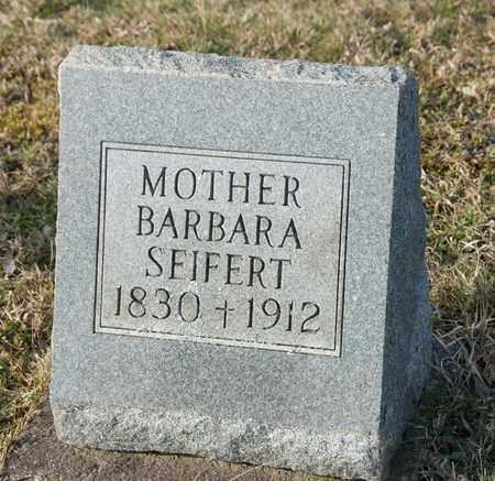 SEIFERT, BARBARA - Richland County, Ohio   BARBARA SEIFERT - Ohio Gravestone Photos