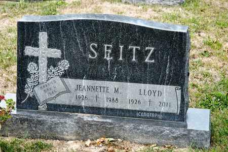 SEITZ, JEANNETTE M - Richland County, Ohio | JEANNETTE M SEITZ - Ohio Gravestone Photos