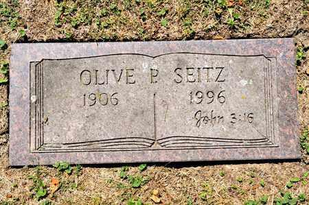 SEITZ, OLIVE P - Richland County, Ohio   OLIVE P SEITZ - Ohio Gravestone Photos