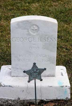 SENN, GEORGE H - Richland County, Ohio | GEORGE H SENN - Ohio Gravestone Photos